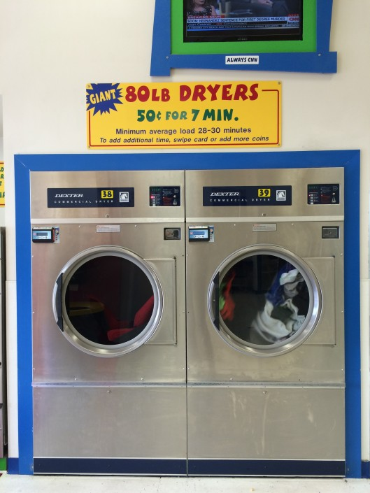 80 lb dryers at Laundromania Northwest Plaza Davenport, Iowa