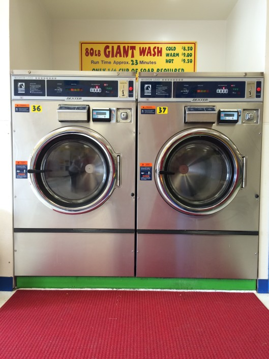 Giant 80lbs washing machines at Laundromania Northwest Plaza Davenport Iowa