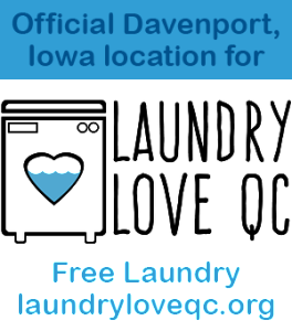 "Official ""Laundry Love QC"" sponsor location"