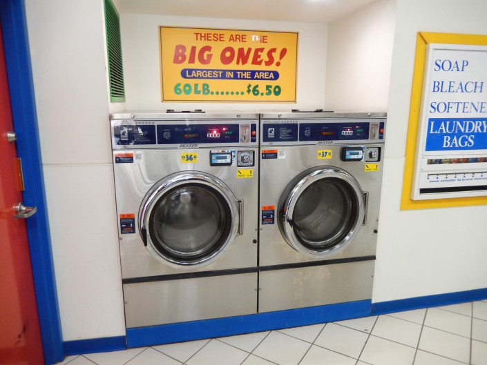 60 lb washing machines at Laundromania in North Liberty, Iowa