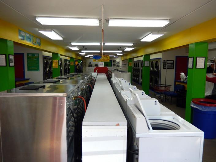 Inside Bloomington Street Laundromania downtown Iowa City