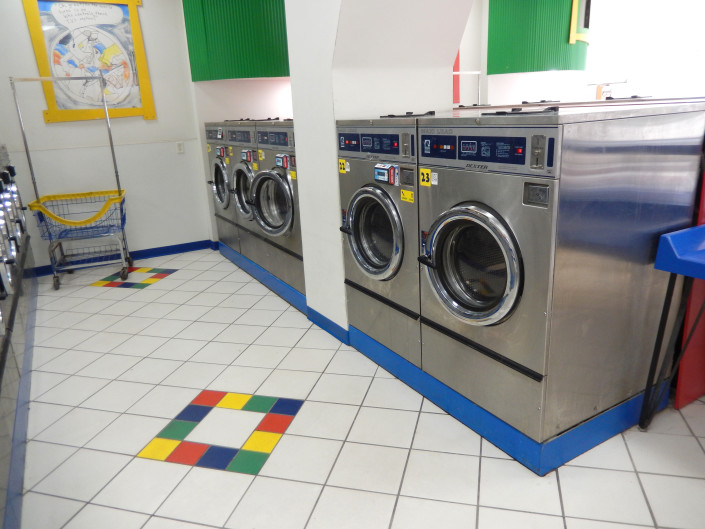 Large washing machines at Laundromania in North Liberty, Iowa
