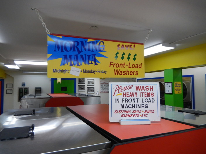 Save with Morning Mania discount at Bloomington Street Laundromania downtown Iowa City