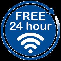 Free 24 hour wifi