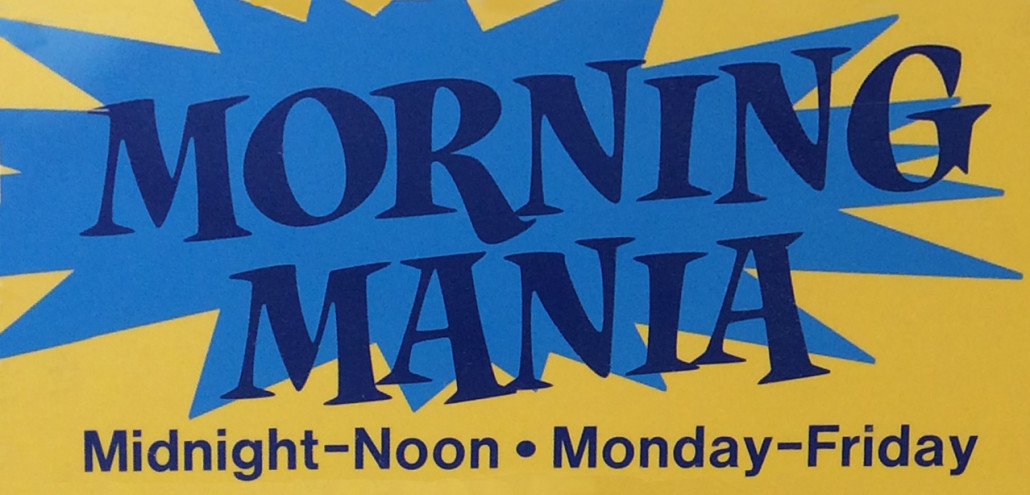 Morning Mania reduced pricing specials
