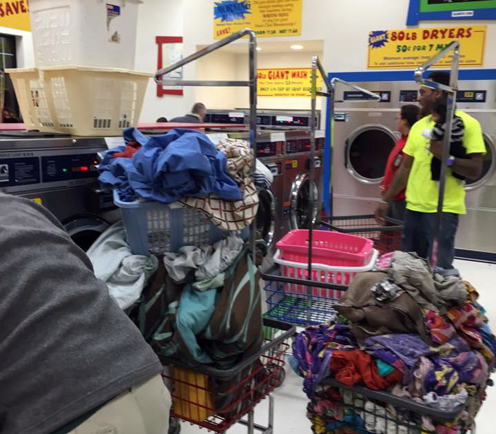 Loads of laundry at Davenport Laundromania