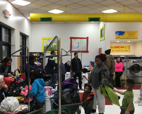 Attendees at Free Laundry Event on Wednesday March 2nd at Laundromania in Davenport, Iowa