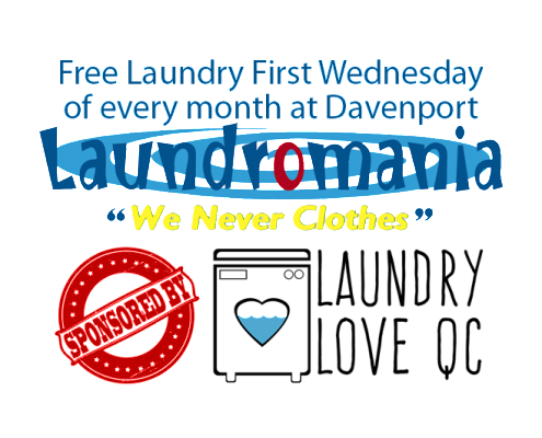 Free Laundry Event coming soon at Laundromania in Davenport, Iowa