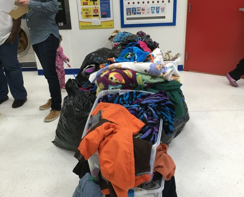 Load of laundry at Free Wednesday laundry event on April 6th 2016 in Davenport, Iowa