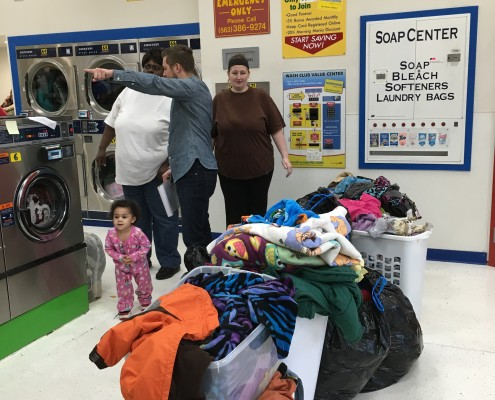 Loads and loads of laundry at Free Wednesday Laundry Event on April 6 2016 in Davenport, Iowa