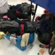 Laundry on the floor at Laundromania's Free Laundry Event in October