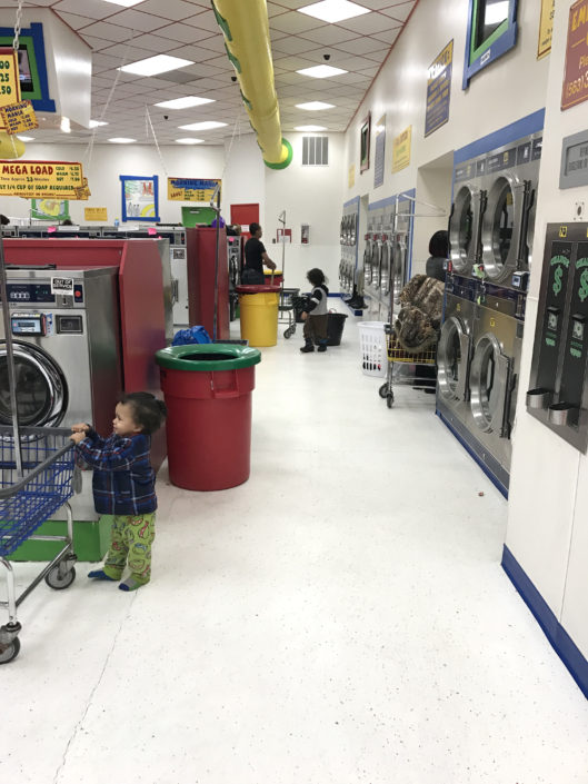 Quad Cities Free Laundry evnt in January 2017 at Laundromania