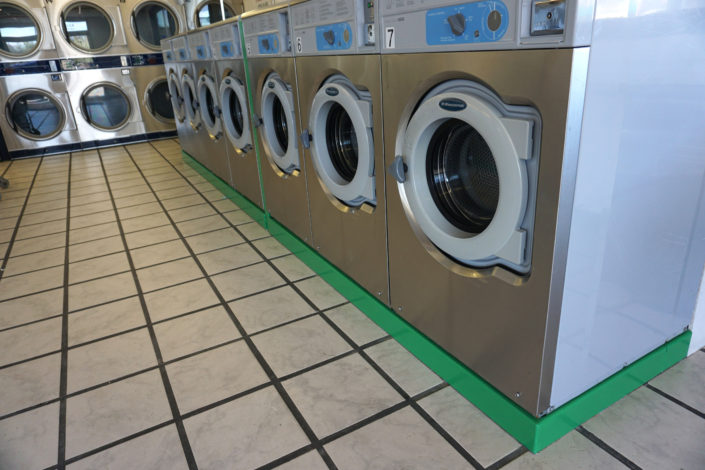 20lb capacity W620 Wascomat machines inside Coralville Laundromania 24 hour Laundromat