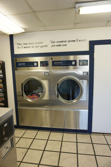 50lb dryers inside Laundromania Coralville 24 hour Laundromat