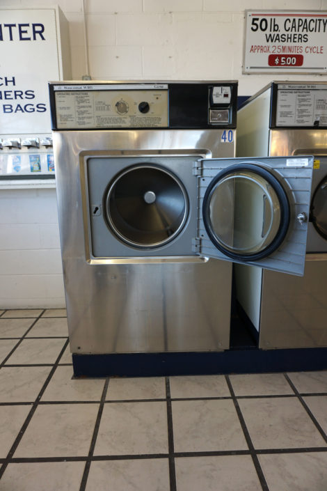 50lb washing machines inside Coralville Laundromania 24 hour Laundromat