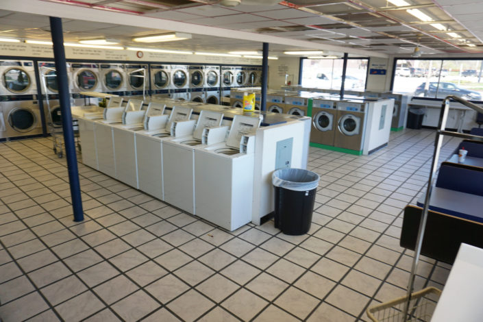 Space inside Laundromania Coralville 24 hour Laundromat